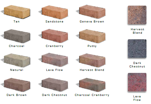 Paver styles and paver colors clyde companies inc for Brick types and styles