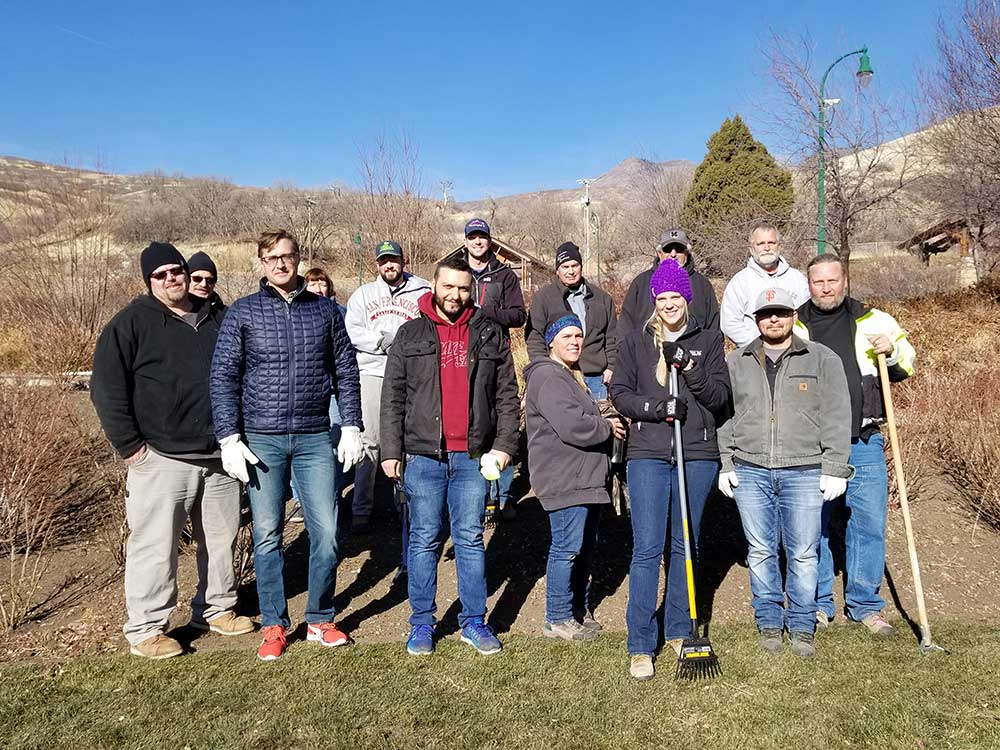 Service projects and employees donating time help us build better communities.
