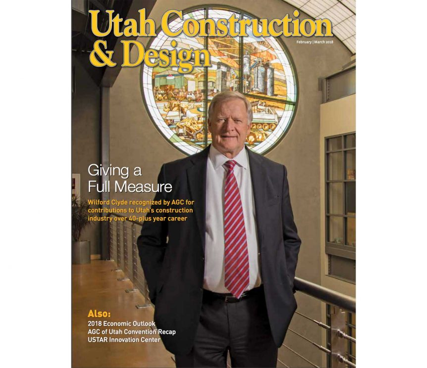 Wilford Clyde recognized by AGC for contributions to Utah's construction industry over 40-plus year career